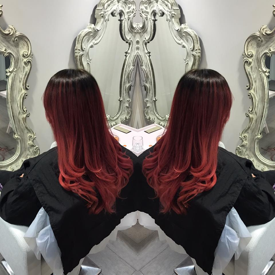 rich red ombre