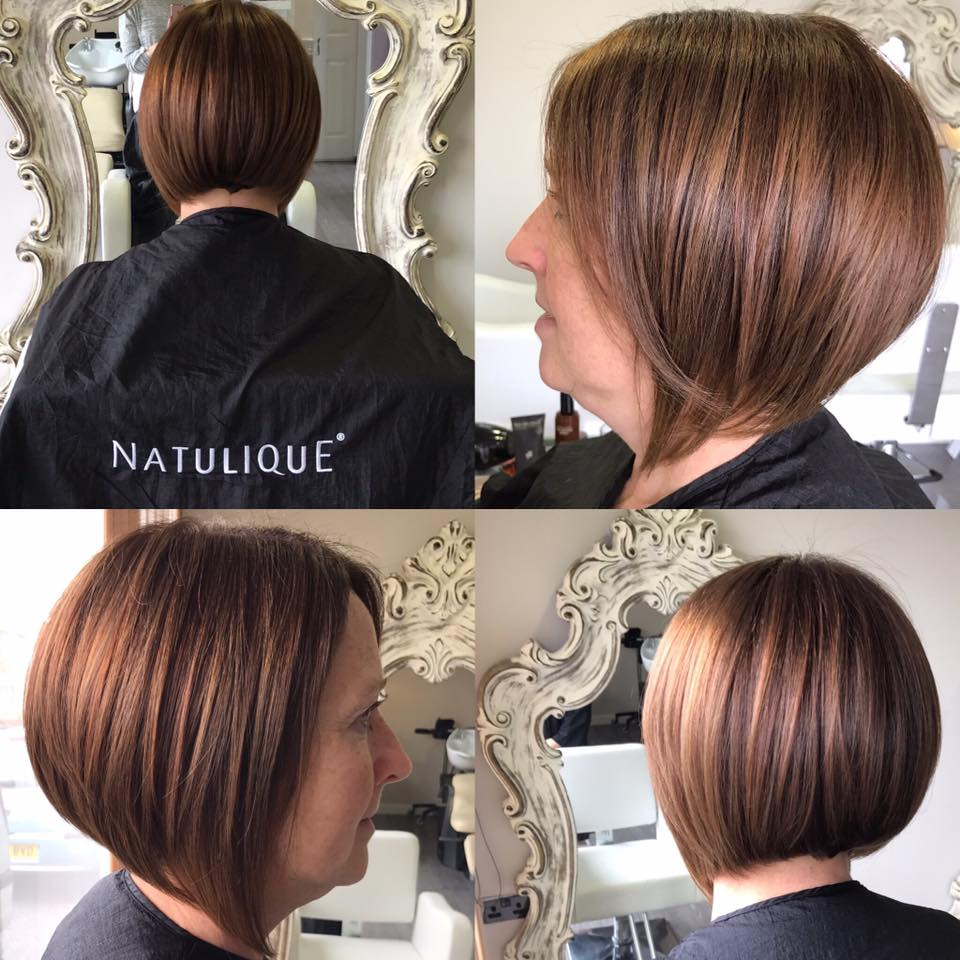 a copper coloured bob