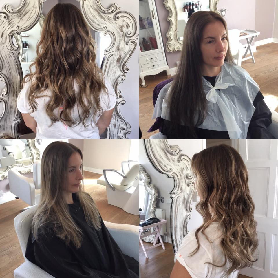 stunning ombre on long hair