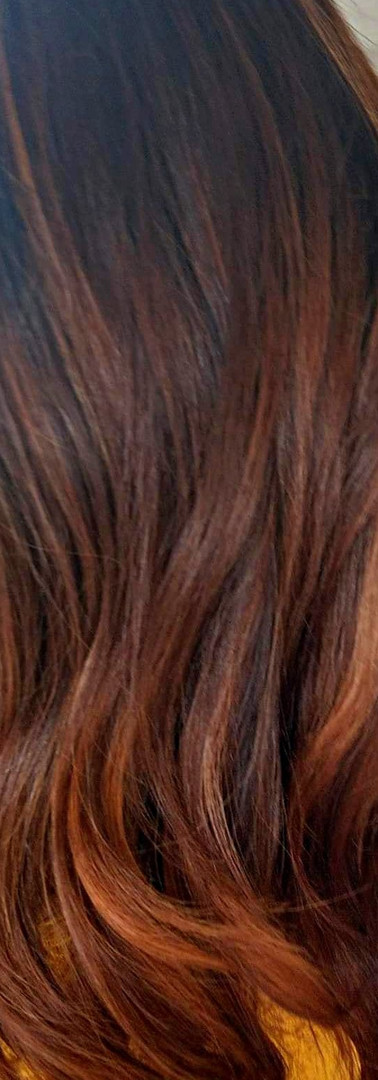Copper Balayage hair colour
