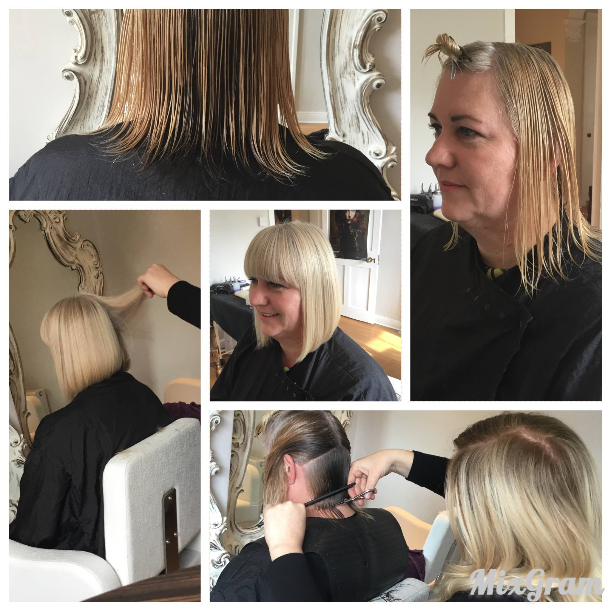 ladies blonde bob