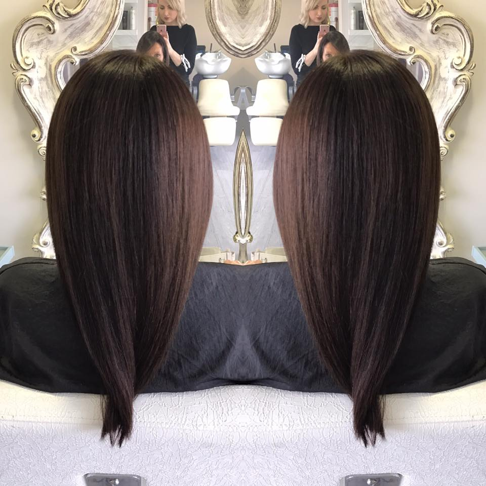 beautiful organic brunette hair