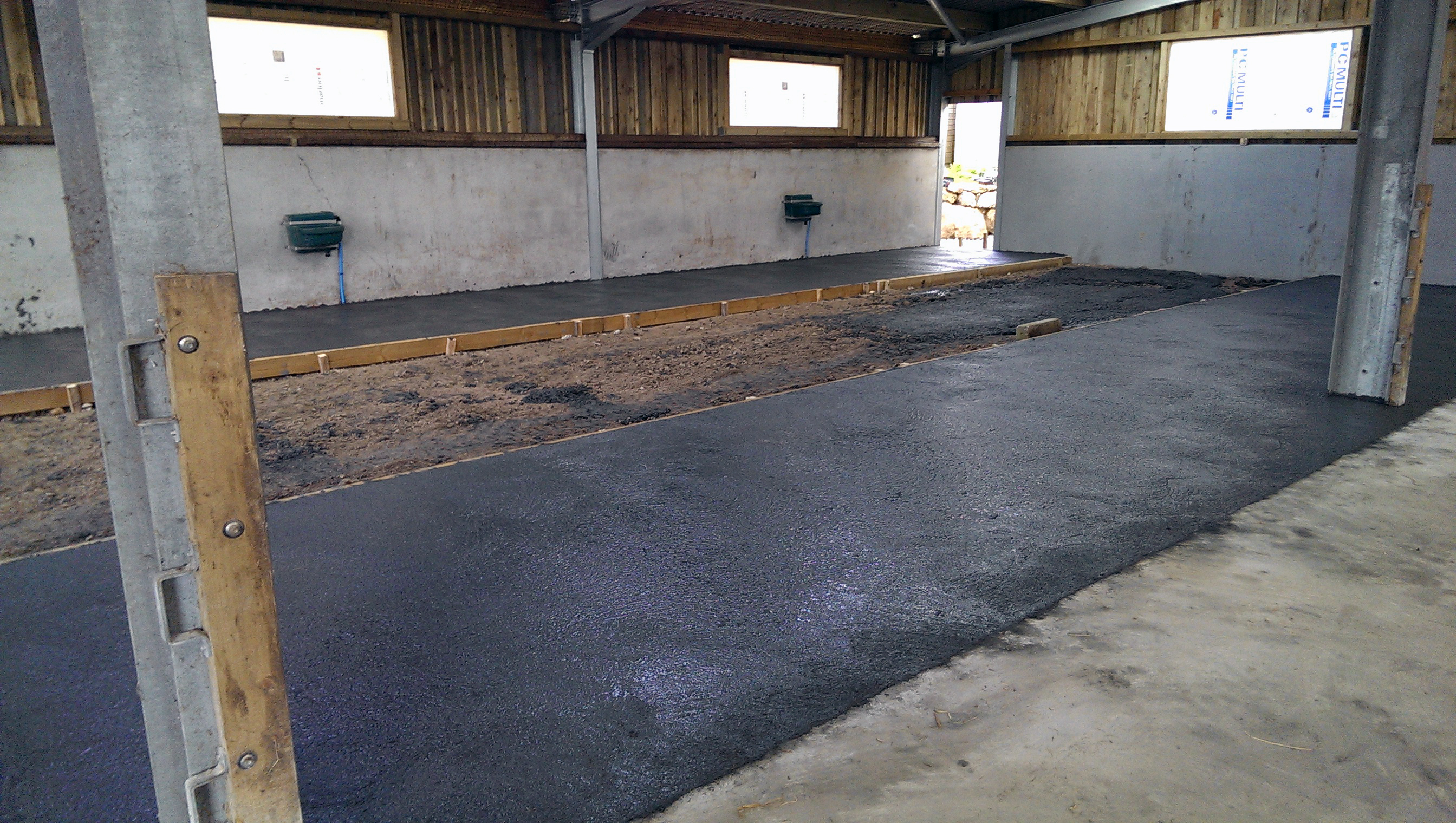 laying concrete slabs