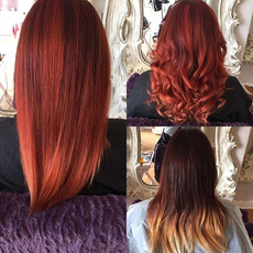 From a tired dip dye to a #stunning #red