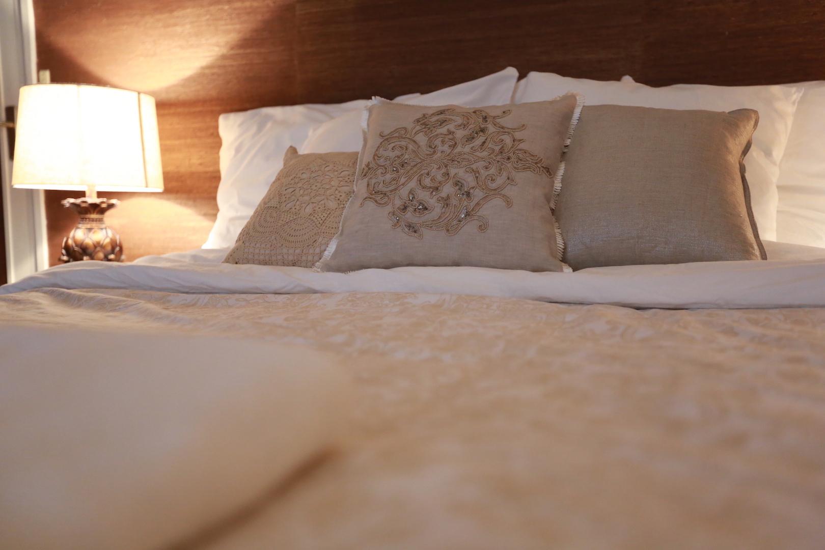 침대 클로즈업