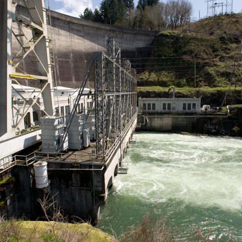 Construction Progress Dam Before Retrofit