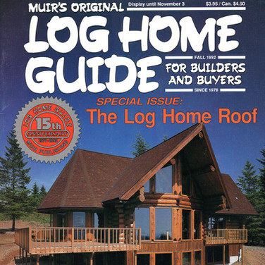 Log Home Guide Cover and Article