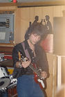 Rossano Radio host FR back in the day on bass guitar