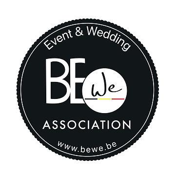 Logo noir écriture blanche ASBL BeWe Event