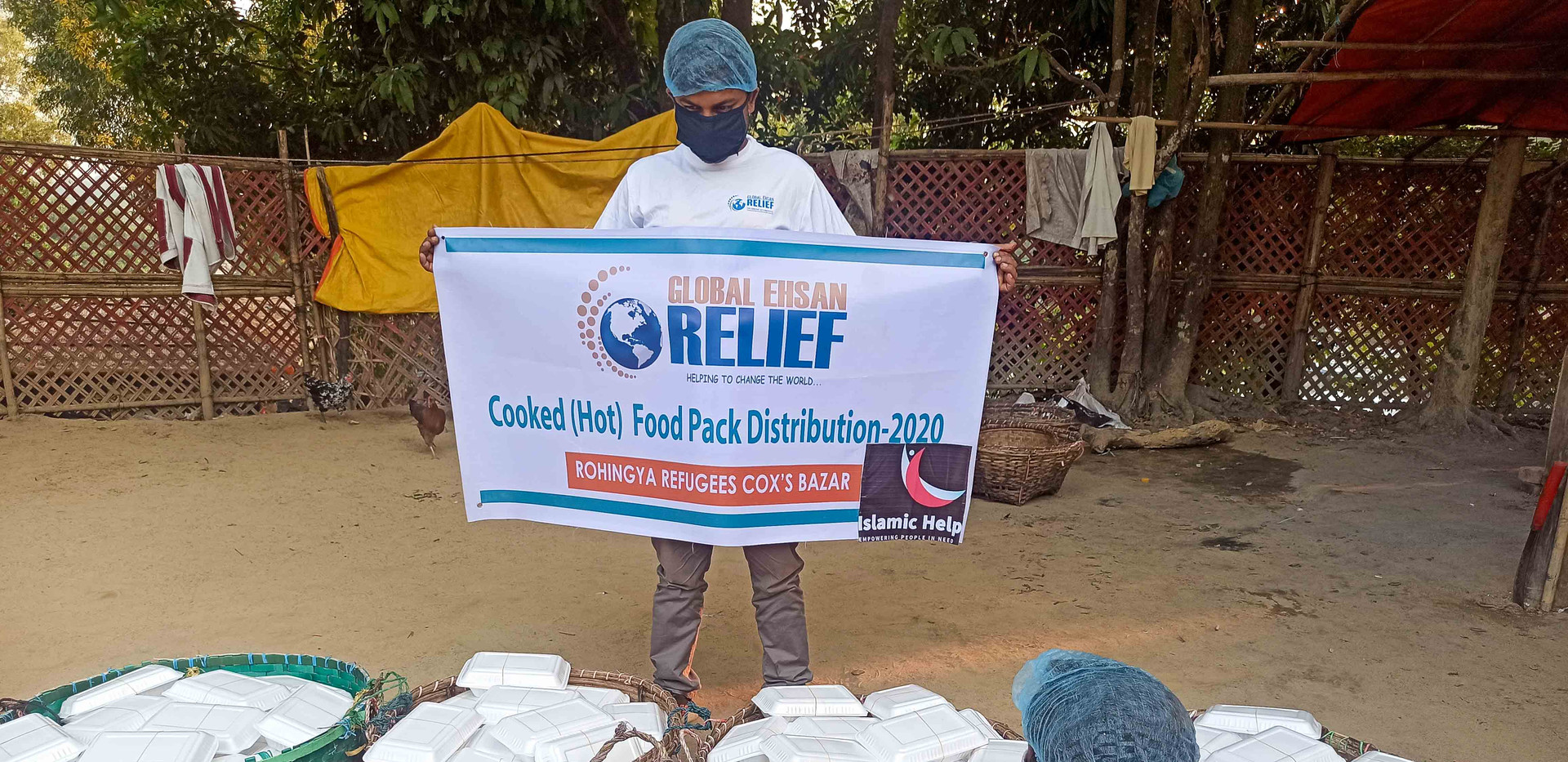 Distribution of Cooked Meals for Rohingya Refugees