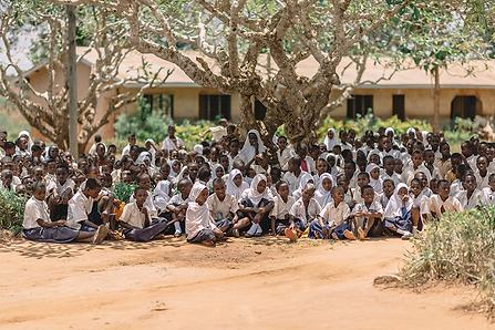 Village students in Tanzania
