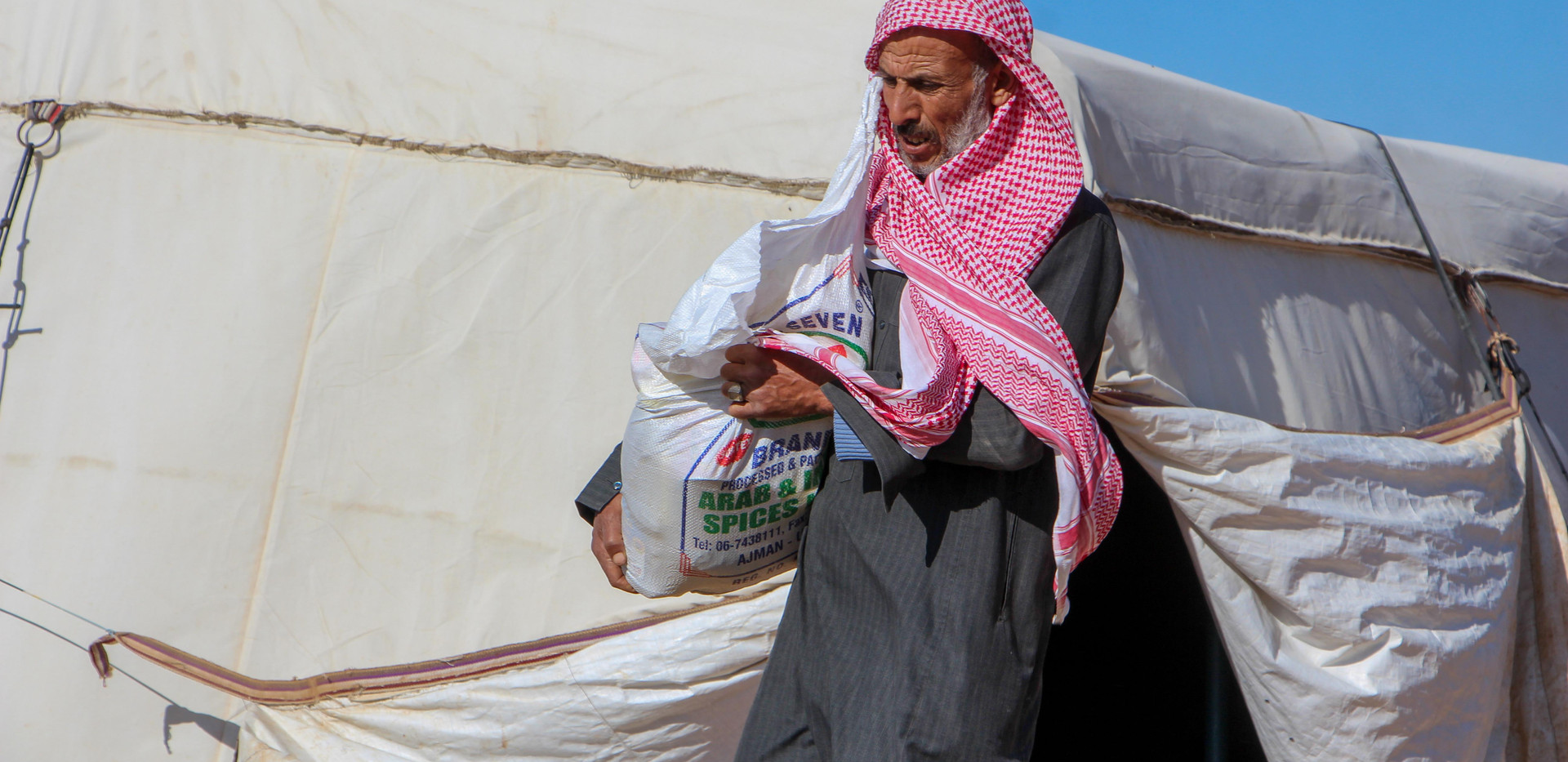 Food Aid Distribution to Syrian Refugees in Jordan