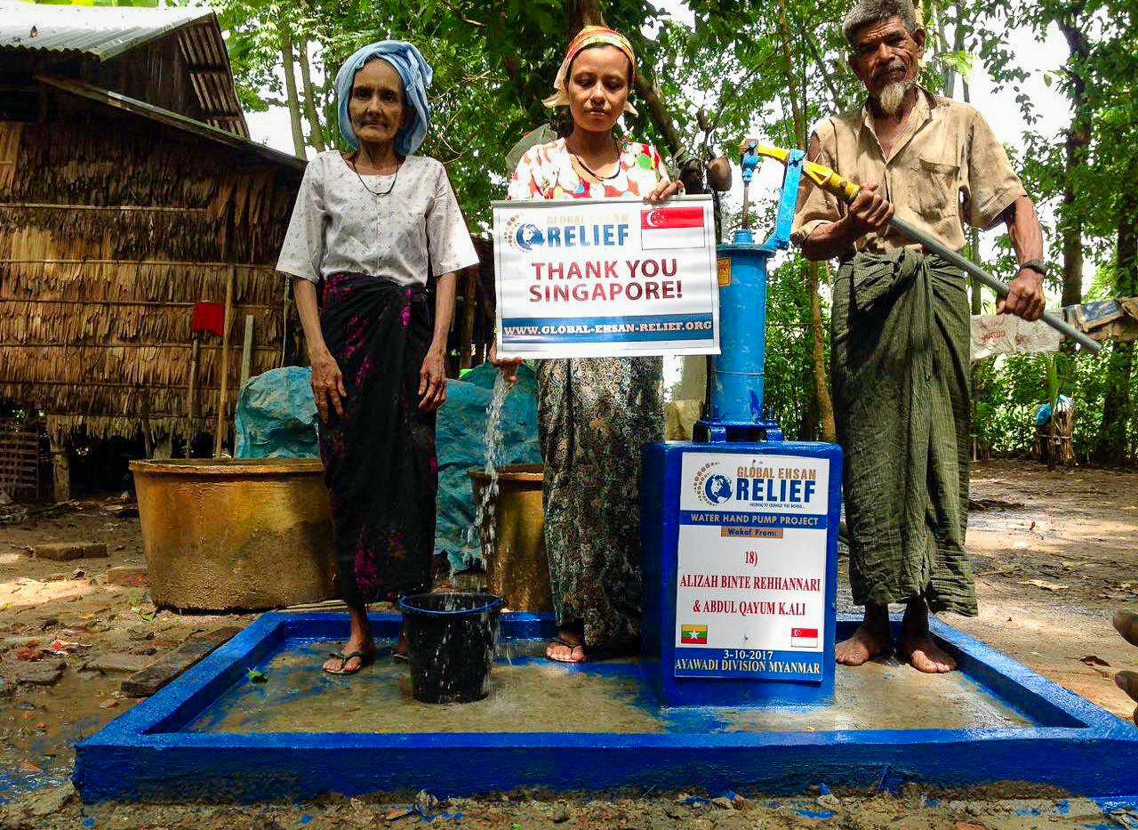 Water pump in Myanmmar
