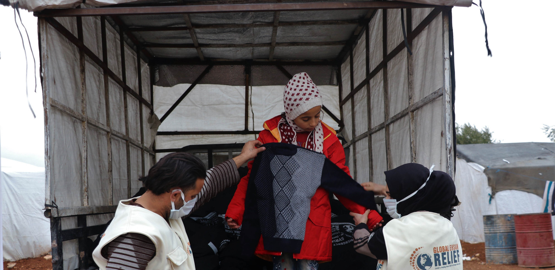Winter Clothes Distribution in Syria 2020