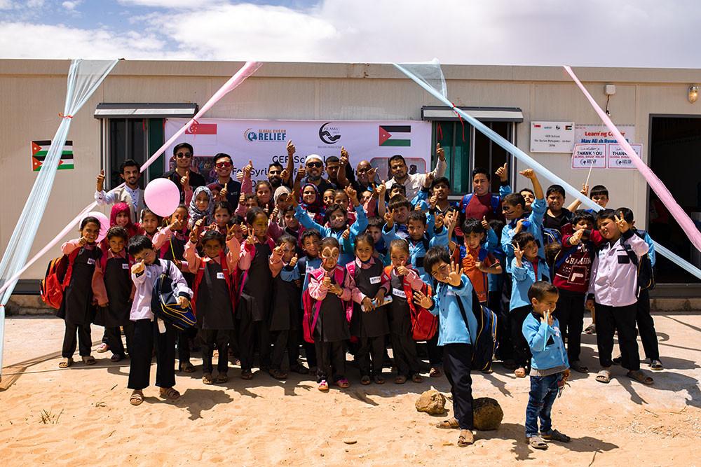 School built for Syrian Refugees in Jordan