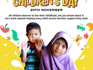 Join Us This World Children's Day!