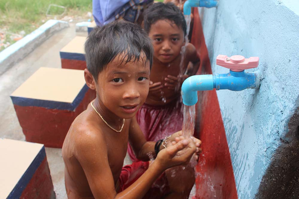 Ablution Place in Cambodia