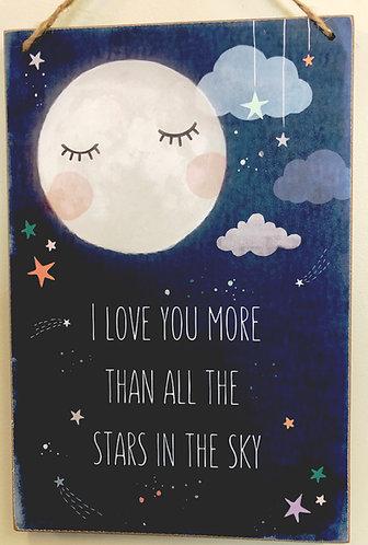 """""""I love you more"""" plaque"""