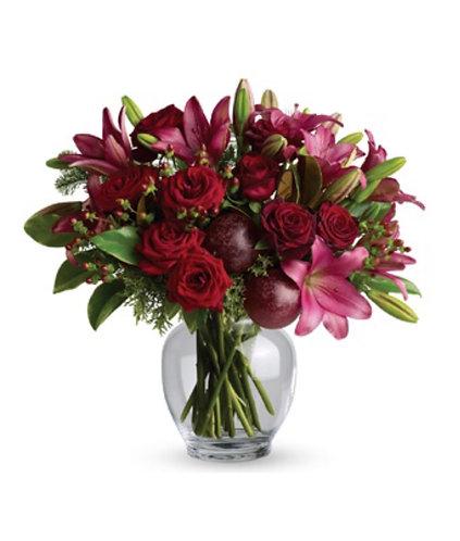 Xmas flowers in vase