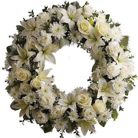 White wreath of peace