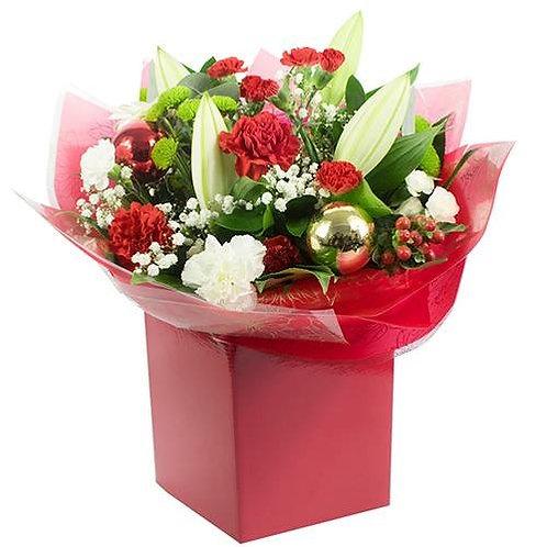 Xmas flowers in bag