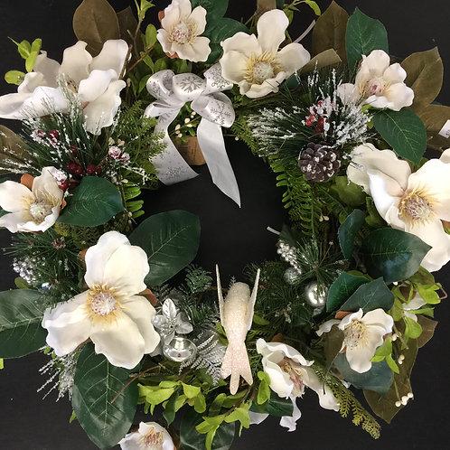 Xmas wreath white