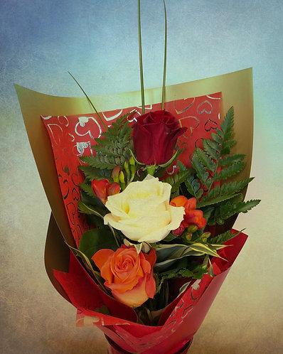 3-rose mixed