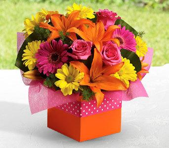 bright color arrangement