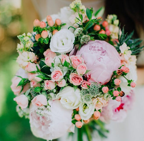 Bridal peony bouquet