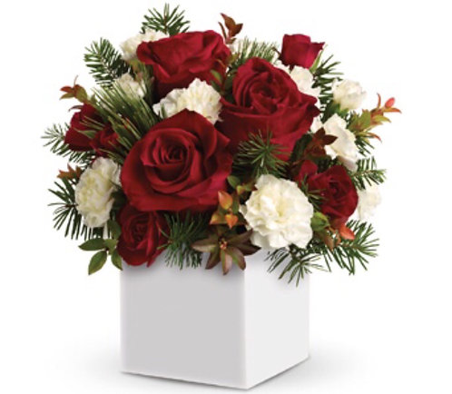Xmas box arrangement(red&white)