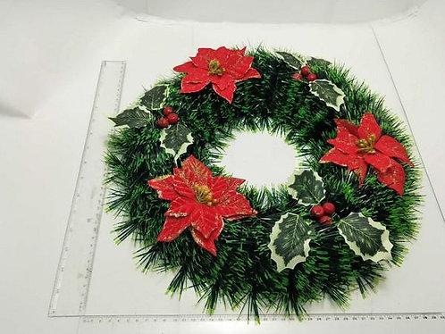 xmas wreath poinsettia 38cm