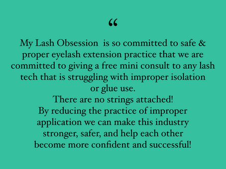 Safety, Pride & Quality Eyelash Extensions