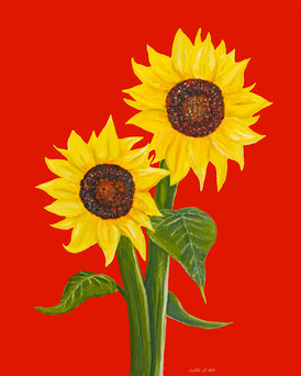 Sunflowers on Red | by Belle Formica