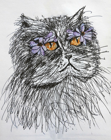 Cat sketch | by Belle Formica