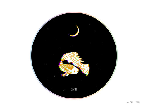 XVIII The Moon   by Belle Formica
