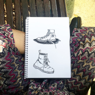 Two shoes sketch | by Belle Formica