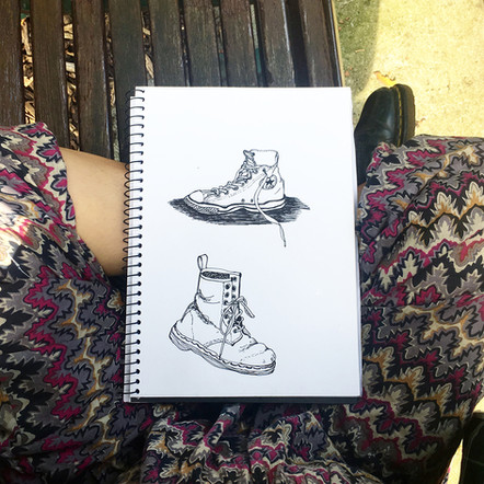 Two shoes sketch   by Belle Formica