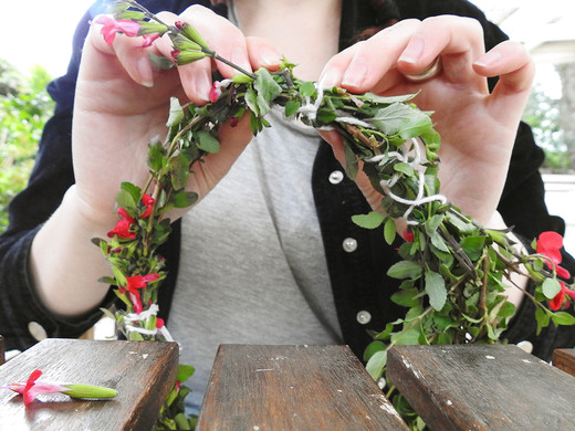 How to make a natural flower crown | with Belle Formica