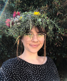 Compostable flower crown | by Belle Formica