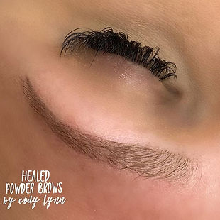 Beautifully HEALED powder brows after on