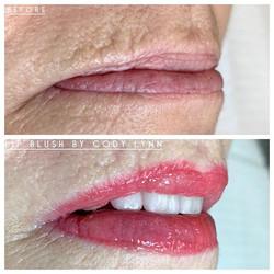 Semi-permanent Lip Blush 👄 Heals about