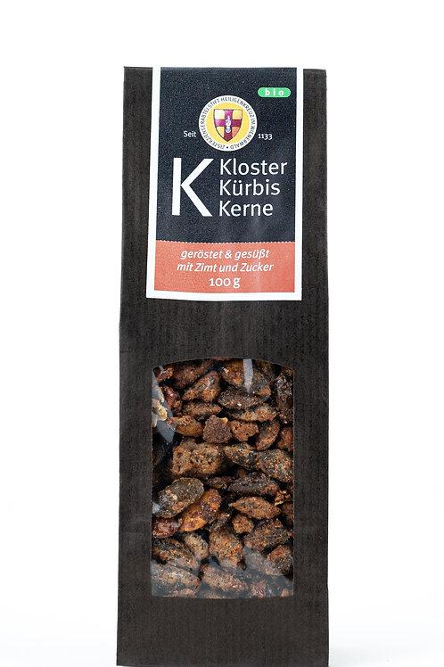 Geröstete Kürbiskerne mit Zimt und Zucker