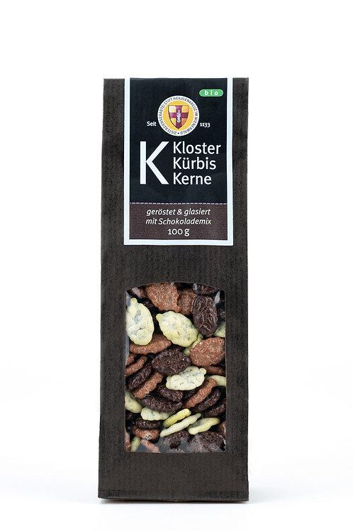 Geröstete Kürbiskerne mit Schokolademix