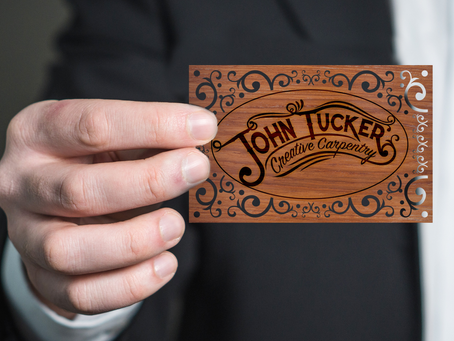 Latest Work – Laser cut business cards