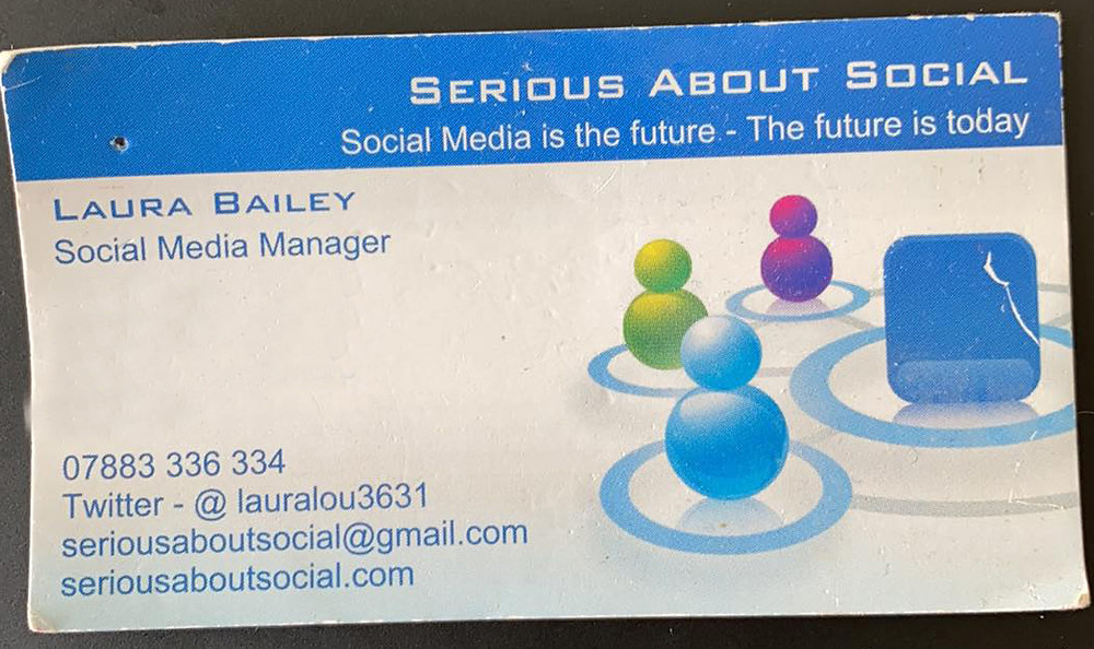 Old, self designed business cards