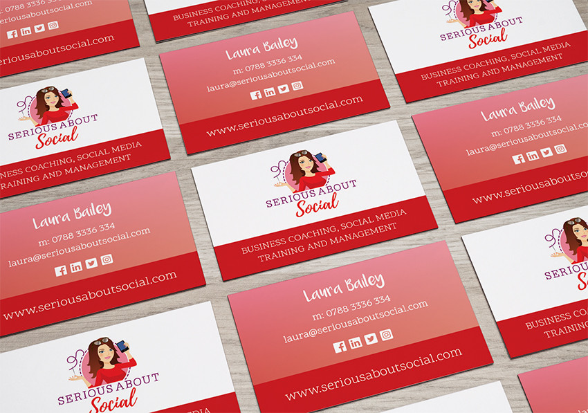New, on-brand business card designs