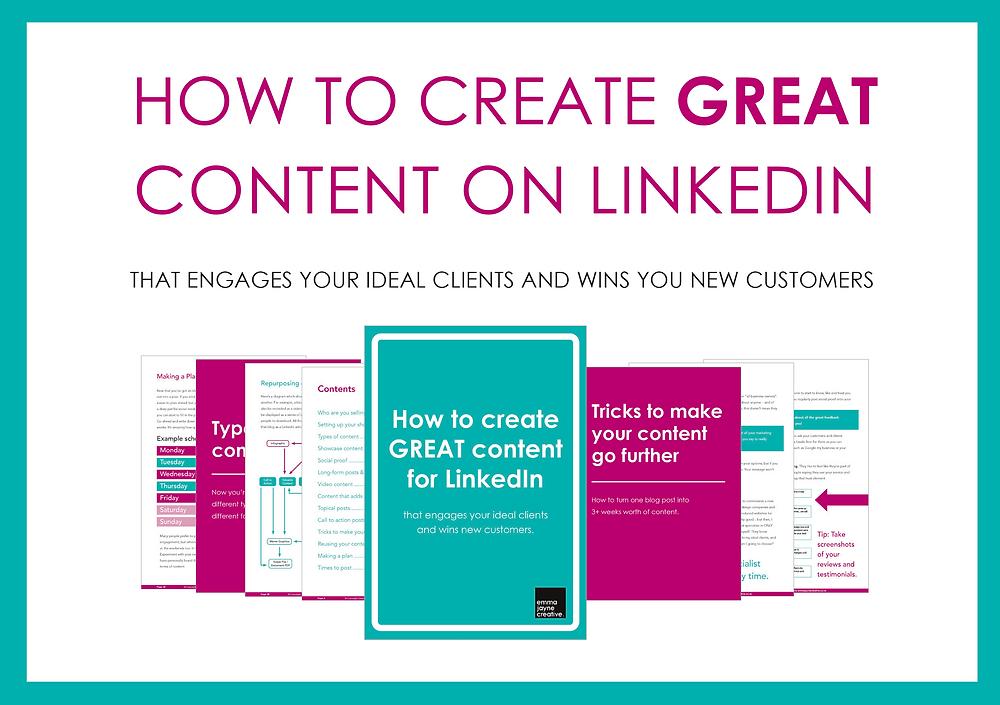 LinkedIn eBook designed by Emma Venables, Graphic Designer based in Weston-super-Mare and Bristol.