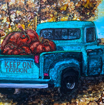 Alcohol Ink Ford Truck Virginia Crowe