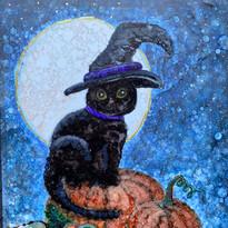 Alcohol Ink Black Cat Virginia