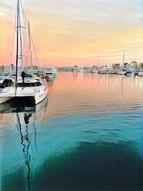 Dana Point Harbor.  Photo and editing by Virginia Crowe.  Procreate